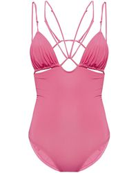 Jacquemus 'pila' One-piece Swimsuit Pink
