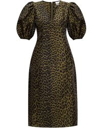 Ganni - Animal-printed Dress - Lyst