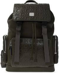 MCM Backpack With Logo Green