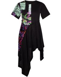 DIESEL Dress With Asymmetrical Hem - Black