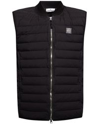 Stone Island - Quilted Down Vest Black - Lyst