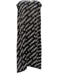Vetements Dress With Logo Black