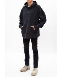 Acne Studios Jeans With Logo Black - Grey