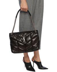 Saint Laurent Loulou Quilted Small Shoulder Bag - Black