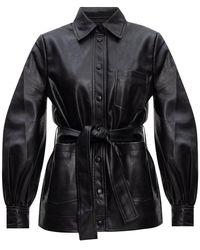 Samsøe & Samsøe Vegan Leather Jacket Black