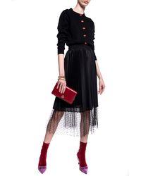 RED Valentino Tulle-trimmed Skirt Black
