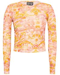 Versace Jeans Couture Long-sleeve Top Pink