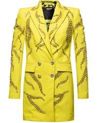Philipp Plein Double-breasted Dress - Yellow