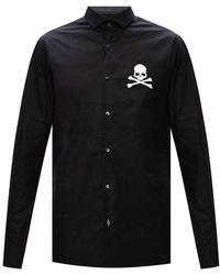 Philipp Plein Skull Motif Shirt - Black