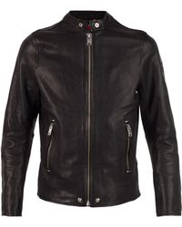 DIESEL Leather Jacket - Black