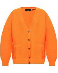 DSquared² Rib-knit Cardigan - Orange