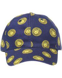 4eff109ce Versace Gold Medusa Leather Cap Black in Black for Men - Lyst