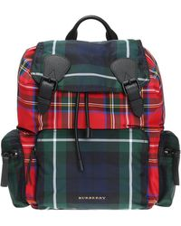 Burberry | 'patchwork Tartan' Patterned Backpack | Lyst