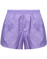 adidas Originals Shorts With Logo - Purple