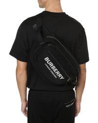 Burberry Large Logo Print Econyl® Cannon Bum Bag - Black
