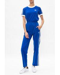 adidas Originals Logo Track Pants Navy Blue