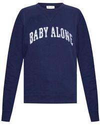 Saint Laurent Printed Sweatshirt Navy Blue
