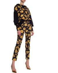 Versace Jeans Barocco-printed Jeans Black