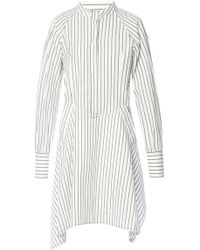 JW Anderson - Pinstriped Flared Dress - Lyst