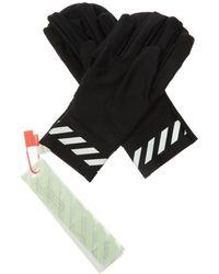Off-White c/o Virgil Abloh Training Gloves With Logo - Black