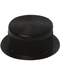 a9824b0111b Saint Laurent - Hat With Grosgrain Band - Lyst