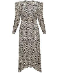 Isabel Marant Patterned Maxi Dress Black