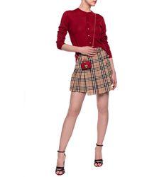 Burberry Wool Skirt - Brown