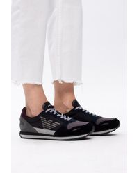 Emporio Armani Lace-up Sneakers Black