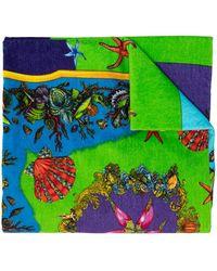 Versace Patterned Towel Unisex Multicolor - Green