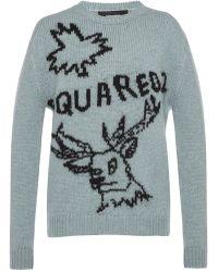 DSquared² Logo-embroidered Jumper - Blue