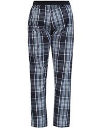 DIESEL Check Pajama Bottom Black