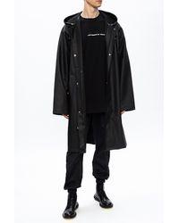 Vetements Logo Raincoat - Black