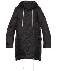 Rick Owens DRKSHDW Hooded Coat - Black