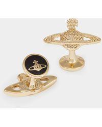 Vivienne Westwood Mini Bas Relief Cufflinks - Metallic