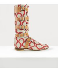 Vivienne Westwood Pirate Boots - Red