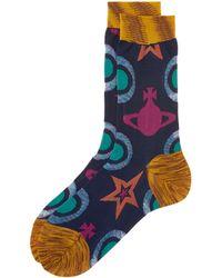 Vivienne Westwood   Blue Star And Orb Socks   Lyst