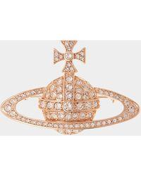 Vivienne Westwood Bas Relief Brooch - Metallic