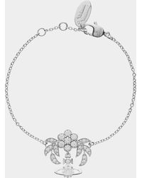Vivienne Westwood - Amma Bracelet Silver Tone - Lyst