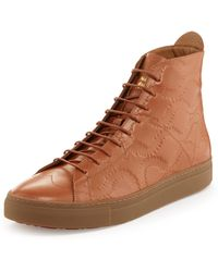 Vivienne Westwood - High Top Trainers Caramel Tan/squiggle Print - Lyst