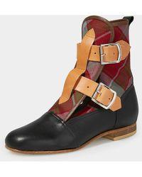 Vivienne Westwood Tartan Seditionaries Boots - Black