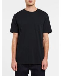Volcom Solid Short Sleeve Pocket Tee - Black