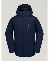 Volcom Mens L Insulated Gore-tex Jacket - Blue