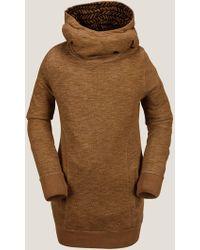 Volcom Tower Pullover Fleece - Brown