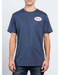 Volcom - Foundry Pocket Tee - Blue - S - Lyst