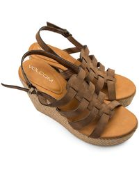 Volcom High Society Sandals - Brown