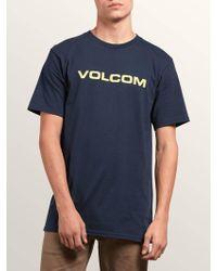 Volcom - Crisp Euro Short Sleeve Tee - Lyst