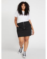 Volcom Frochickie Skirt Plus Size - Black