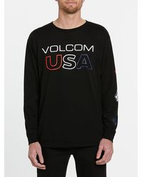 Volcom Usst Long Sleeve Tee - Black