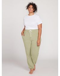 Volcom Lived In Lounge Fleece Pant Plus Size - Green
