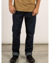 Volcom - Kinkade Tapered Jeans - Lyst